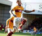 30.03.2019 Motherwell v St Johnstone: Richard Tait celebrates his goal