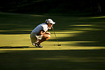 STILLWATER, OK - MAY 21: Jennifer Kupcho of Wake Forest lines up a putt in the late light of the day during the Division I Women's Golf Individual Championship held at the Karsten Creek Golf Club on May 21, 2018 in Stillwater, Oklahoma. (Photo by Shane Bevel/NCAA Photos via Getty Images)