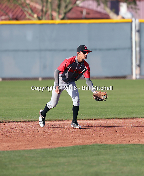 Steven Ondina takes part in the 2018 Under Armour Pre-Season All-America Tournament at the Chicago Cubs training complex on January 13-14, 2018 in Mesa, Arizona (Bill Mitchell)