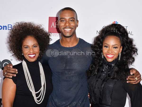 LOS ANGELES, CA- FEBRUARY 12: Pauletta Washington, Nic Few, Teyonah Parris at the &quot;90 Days&quot; Movie Premiere at the Pan African Film Festival at the Cinemark Baldwin Hills in Los Angeles, California on February11, 2017. <br /> Credit: Koi Sojer/Snap'N U Photos/MediaPunch