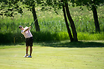 SUGAR GROVE, IL - MAY 29: Hayden Wood of Oklahoma State University hits an approach shot during the Division I Men's Golf Individual Championship held at Rich Harvest Farms on May 29, 2017 in Sugar Grove, Illinois. (Photo by Jamie Schwaberow/NCAA Photos via Getty Images)