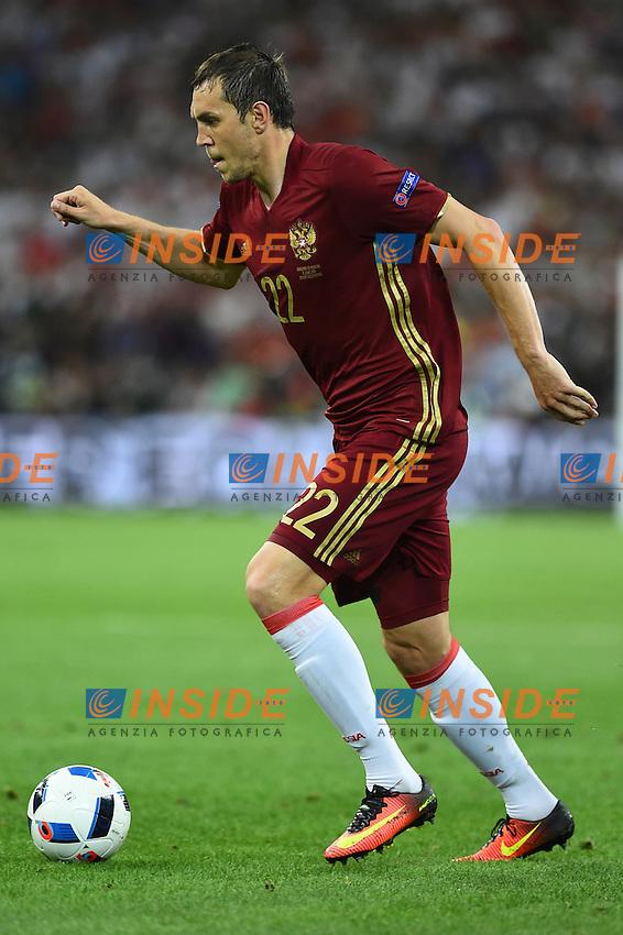 Artem Dzyuba Russia<br /> Marseille 11-06-2016 Stade Velodrome Footballl Euro2016 England - Russia  / Inghilterra - Russia Group Stage Group B. Foto Massimo Insabato / Insidefoto