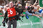 Photographer Graham Watson at the finish of Stage1 of the 2009 Tour of Ireland, running 196km from the Ritz-Carlton Hotel Powerscourt, Enniskerry to Waterford, Ireland. 21st August 2009.<br /> (Photo by Eoin Clarke/NEWSFILE)