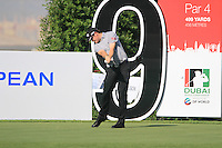 Gary Boyd tees off on the 9th tee during Day 1 of the Dubai World Championship, Earth Course, Jumeirah Golf Estates, Dubai, 25th November 2010..(Picture Eoin Clarke/www.golffile.ie)