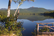 Mount Chocorua from Chocorua Lake in Tamworth, New Hampshire USA during the summer months.