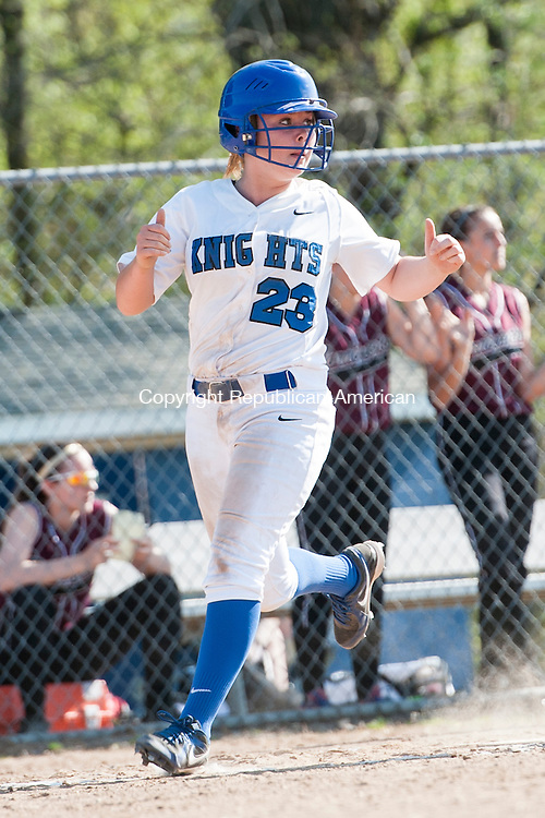 SOUTHINGTON, CT-7 May 2015-050715EC05-  Southington's Hayley Arduini scores against Torrington Thursday in Southington. Erin Covey Republican-American