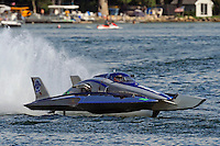 13-14 June, 2009, APBA Inboards, Walled Lake, Novi, MI. USA.Patrick Sankuer, Jr., GNH-6, Grand National hydroplane.©F. Peirce Williams 2009 USA.F.Peirce Williams.photography.ref: RAW (.NEF) File Available