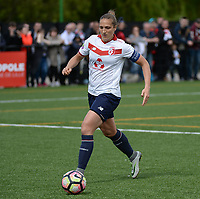20170514 - LILLE , FRANCE : LOSC's Maud Coutereels pictured during the 21 st competition game between the women teams of Lille OSC and La Roche Sur Yon in the 2016-2017 season of the Second Division A D2F A at stade Lille Metropole , Saturday 14th May 2017 ,  PHOTO Joke Vuylsteke | Sportpix.Be