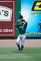 Daytona Tortugas left fielder Angelo Gumbs (21) during a game against the Clearwater Threshers on April 20, 2016 at Bright House Field in Clearwater, Florida.  Clearwater defeated Daytona 4-2.  (Mike Janes/Four Seam Images)