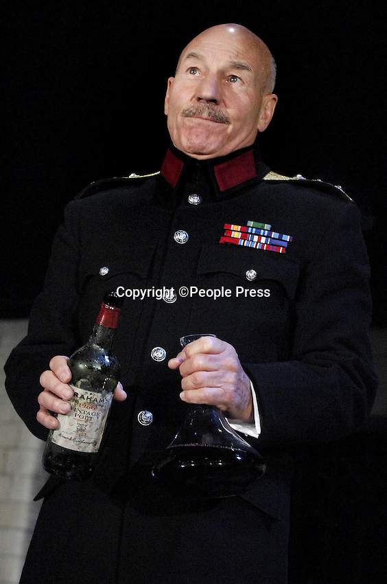 Rupert Goold's highly acclaimed Chichester Festival Productrion of Shakespeare's Macbeth at the Gielgud Theatre, London,  25 September 2007. .Patrick Stewart stars as Macbeth and Kate Fleetwood as Lady Macbeth ..Photo by People Press.