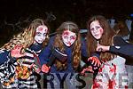 Síle Ní Lionsigh, Grace Ní Bhriain adn Aoife Ní Shuilleabhain at Knocknagoshel Halloween festival on Sunday night