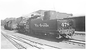 K-28 #478 in Chama yard with K-36 #488.<br /> D&amp;RGW  Chama, NM