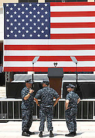 U S NAVY BASE DI CAPODICHINO PREPARATIVI PER L'ARRIVO DEL VICEPRESIDENTE