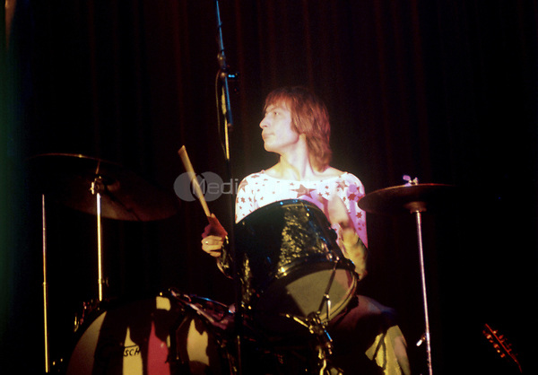 Charlie Watts at the drums. The Rollings Stones on stage in Hamburg (Germany) in September 1970. | usage worldwide Credit: DPA/MediaPunch ***FOR USA ONLY***