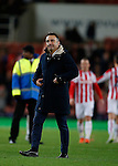 Carlos Carvalhal manager of Sheffield Wednesday applauds the fans - Capital One Cup Quarter-Final - Stoke City vs Sheffield Wednesday - Britannia Stadium - Stoke - England - 1st December 2015 - Picture Simon Bellis/Sportimage