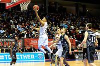 36 KM<br /> GRONINGEN - Basketbal, Donar - Cluj ,  Europe League, seizoen 2017-2018, 24-01-2018,  /Donar speler Brandyn Curry op weg naar score