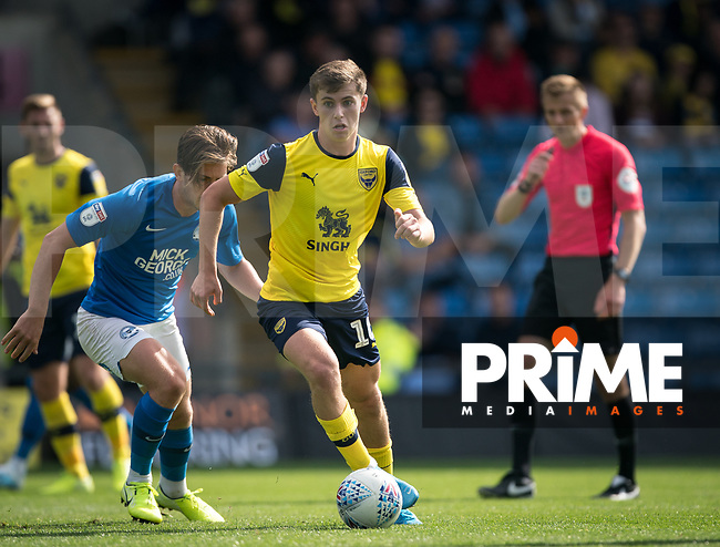 Ben Woodburn (on loan from Liverpool) of Oxford United during the Sky Bet League 1 match between Oxford United and Peterborough at the Kassam Stadium, Oxford, England on 10 August 2019. Photo by Andy Rowland.