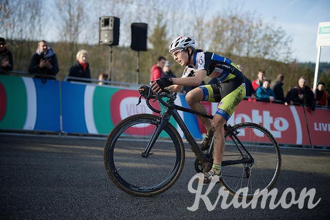 Jolien Verschueren (BEL/Decock Woningbouw) a few meters away from finishing 4th<br /> <br /> Superprestige Francorchamps 2014