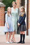 Princess Sofia, Queen Letizia and Princess Leonor during the First Communion of princess Sofia at Asuncion de Nuestra Senora Church in Madrid, May 17, 2017. Spain.<br /> (ALTERPHOTOS/BorjaB.Hojas)