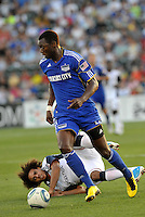 Birahim Diop.Kevin Alston on ground...Kansas City Wizards defeated New England Revolution 4-1 at Community America Ballpark, Kansas City , Kansas.