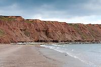 Clay cliffs, Filey, North Yorkshire.