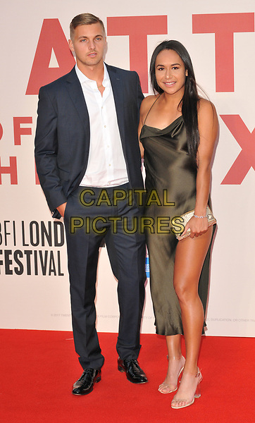 Lloyd Glasspool and Heather Watson at the 61st BFI LFF &quot;Battle of the Sexes&quot; American Express gala, Odeon Leicester Square, Leicester Square, London, England, UK, on Saturday 07 October 2017.<br /> CAP/CAN<br /> &copy;CAN/Capital Pictures