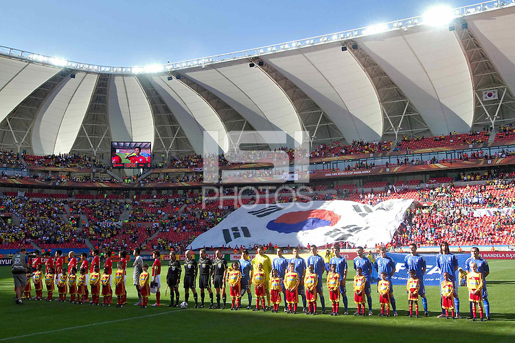South Korea and Greece team line up before game