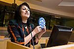 "BRUSSELS - BELGIUM - 15 November 2012 -- European Training Foundation (ETF) conference on - Towards excellence in entrepreneurship and enterprise skills. -- Good Practice Marathon II - Tajikistan: Firuza Nabieva, MLO 'IMON International"", LLC. -- PHOTO: Juha ROININEN /  EUP-IMAGES."