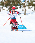 Pyeongchang, Korea, 11/3/2018-Ethan Hess competes in the 15k sitting cross country during the 2018 Paralympic Games in PyeongChang. Photo Scott Grant/Canadian Paralympic Committee.