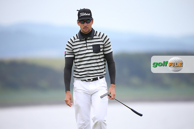 Rafa Cabrera-Bello (ESP) during Round Three of the 2016 Aberdeen Asset Management Scottish Open, played at Castle Stuart Golf Club, Inverness, Scotland. 09/07/2016. Picture: David Lloyd | Golffile.<br /> <br /> All photos usage must carry mandatory copyright credit (&copy; Golffile | David Lloyd)