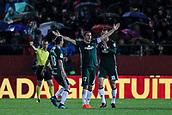 13th April 2018, Estadi Montilivi, Girona, Spain; La Liga football, Girona versus Real Betis; Joaquin of Betis celebrates scoring his goal for 1-0 to Betis in the 36th minute