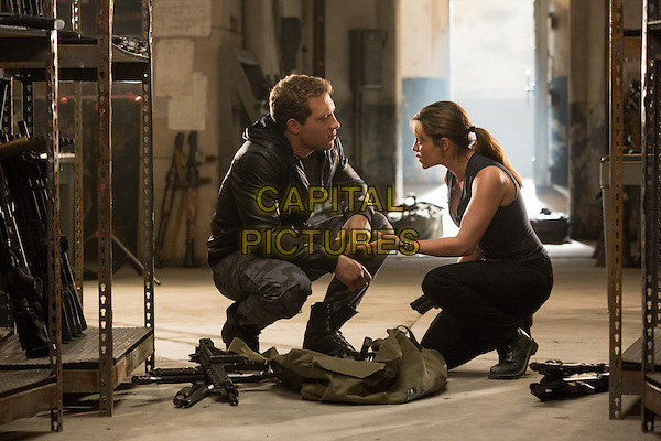 Jai Courtney and Emilia Clarke<br /> in Terminator Genisys (2015) <br /> *Filmstill - Editorial Use Only*<br /> CAP/FB<br /> Image supplied by Capital Pictures