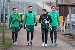 17.01.2020, Trainingsgelaende am wohninvest WESERSTADION,, Bremen, GER, 1.FBL, Werder Bremen Training ,<br /> <br /> <br />  im Bild<br /> <br /> Luca Plogmann (Werder Bremen #40)<br /> Jiri Pavlenka (Werder Bremen #01)<br /> U23 Torwarttrainer Manuel Klon<br /> Stefanos Kapino (Werder Bremen #27)<br /> Foto © nordphoto / Kokenge
