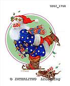 GIORDANO, CHRISTMAS SANTA, SNOWMAN, WEIHNACHTSMÄNNER, SCHNEEMÄNNER, PAPÁ NOEL, MUÑECOS DE NIEVE, paintings+++++,USGI1708,#X#