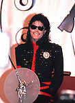 Michael Jackson 1990 with award for selling 100 million records in the 1980's