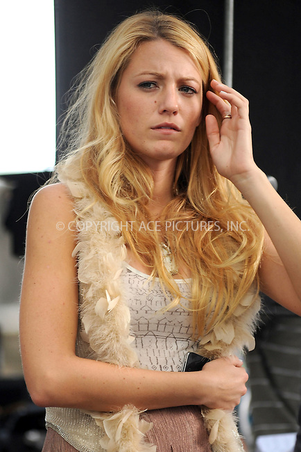 WWW.ACEPIXS.COM . . . . . .September 1, 2011, New York City....Blake Lively on the set of the TV show 'Gossip Girl' on September 1, 2011 in New York City in New York City....Please byline: KRISTIN CALLAHAN - ACEPIXS.COM.. . . . . . ..Ace Pictures, Inc: ..tel: (212) 243 8787 or (646) 769 0430..e-mail: info@acepixs.com..web: http://www.acepixs.com .