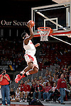 MADISON, WI - OCTOBER 24: Forward Marcus Landry #1 of the Wisconsin Badgers dunks the ball during the dunk contest at the Kohl Center on October 24, 2006 in Madison, Wisconsin. The White team defeated the Red team 72-69. (Photo by David Stluka)