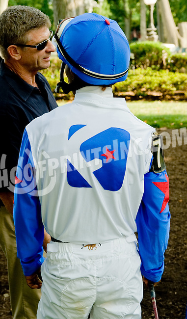 Vazs Mane Son before The Alec Courtelis Juvenile Arabian Stakes at Delaware Park on 7/9/12