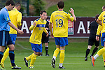 UCD v St Johnstone...10.07.11  Pre-season Friendly.Kevin Moon celebrates his goal with Carl Finnigan.Picture by Graeme Hart..Copyright Perthshire Picture Agency.Tel: 01738 623350  Mobile: 07990 594431