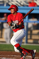 Batavia Muckdogs infielder Jonathan Rodriguez (28) during a game vs. the Mahoning Valley Scrappers at Dwyer Stadium in Batavia, New York June 28, 2010.   Batavia defeated Mahoning Valley 11-3.  Photo By Mike Janes/Four Seam Images