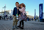 November 3, 2018 : Two young fans smile for a photo on Breeders Cup World Championships Saturday at Churchill Downs on November 3, 2018 in Louisville, Kentucky. Bill Denver/Eclipse Sportswire/CSM
