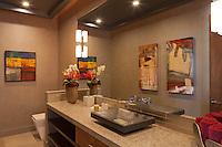 Stock photo of powder room - guest bath