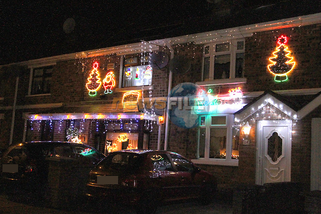 Houses on Congress Avenue in Drogheda Decorated for Christmas...Photo NEWSFILE/Jenny Matthews..(Photo credit should read Jenny Matthews/NEWSFILE)