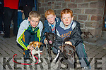 Pictured at the Terrier Racing part of Cahersiveen Culture Night on Friday last were l-r; Jack Clifford, Jack & Kevin Griffin.
