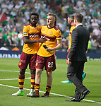 19.05.2018 Scottish Cup Final Celtic v Motherwell: Motherwell dejection Gael Bigrimana and Allan Campbell