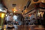 Interior East End traditional local pub, London, Englandd