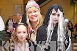 Lorraine, Chloe and Emma Jane McNamara pictured at the Halloween fancy dress party in the Killarney Outlet Centre on Sunday. ....