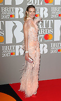 Natalia Vodianova at The BRIT Awards 2017 at The O2, Peninsula Square, London on February 22nd 2017<br /> CAP/ROS<br /> &copy; Steve Ross/Capital Pictures /MediaPunch ***NORTH AND SOUTH AMERICAS ONLY***