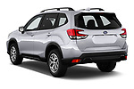 Car pictures of rear three quarter view of a 2019 Subaru Forester Premium 5 Door Wagon angular rear