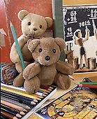 Interlitho, Alberto, CUTE ANIMALS, teddies, photos, 2 teddies, pencils(KL15738,#AC#)